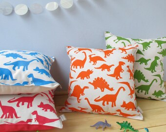 Coussin impression dinosaure