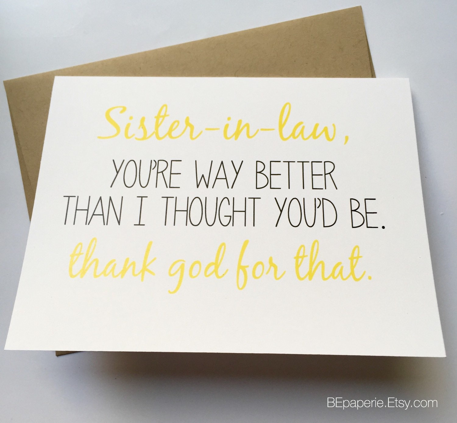 Sister in law card sister birthday card funny sister card zoom bookmarktalkfo Gallery