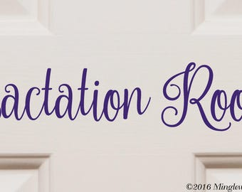 "LACTATION ROOM 12"" x 2.5"" Vinyl Decal Sticker - Breastfeeding Nursing *Free Shipping*"