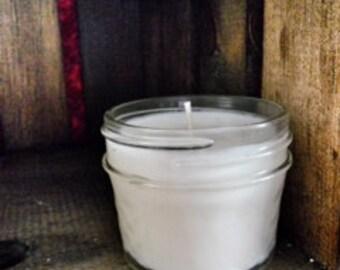Warm Vanilla Nutmeg Soy Candle in 4oz Jelly Jar