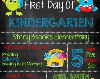 First Day of School Chalkboard, First Day of School Sign, First Day of School