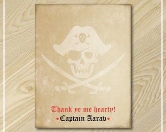 Pirate Party - Thank You Card - Thank You Notes