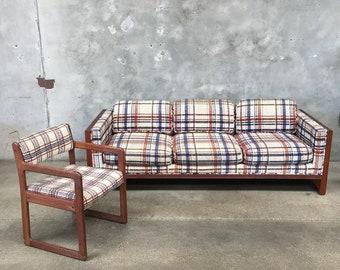 Vintage Sofa & Chair Set (3B1GHU)