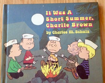 Peanuts vintage book / It Was a Short Summer Charlie Brown from 1970