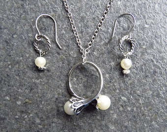 Daenerys Ring, Game of Thrones, Pearls ring, Set Necklace+Earrings, Daenerys Cosplay, Boho Jewelry.