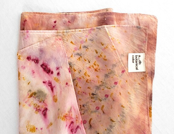 Bundle Dyed Oversized Cotton Scarf / Plant Dyed / Wrap / Naturally Dyed / Dyed Cotton / Eco Fashion / Pink Scarf / Lightweight Cotton Scarf
