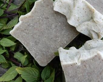 Peppermint Soap, Natural Vegan Soap, Peppermint Tea, 4.5-5 oz., Handcrafted Soap, Essential Oils