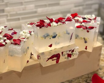 Patchouli Rose bar/soap/clean/essential oil/melt and pour soap/gifts