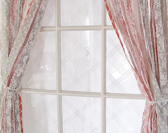 Bohemian Curtains   Shabby Curtains   Ribbon Curtain   Handmade Gypsy Curtains   Photo Backdrop