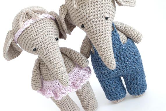 Amigurumi Patterns Elephant : Crochet patterns animal amigurumi pattern elephant crochet doll