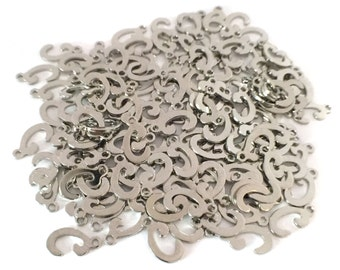 """5x Silver Plated Letter """"C"""" Initial Charms - M121-C"""