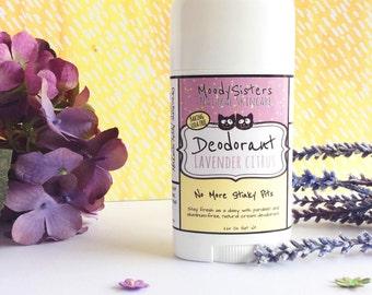 Lavender Citrus Cream Organic Deodorant - Natural Aluminum Free Deodorant - Organic Cream Stick Lemon Lavender -- Vegan Natural Deodorant