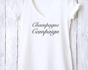 Champagne Campaign shirt in Gray,Celebration Shirt,Bachelorette gift,Party Shirt,Popular Trending shirt,Bachelorette Shirt,Funny Shirt,CCS