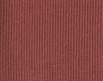 BRICK RED 2x1 RIBBING, Cotton Lycra blend, Fat Eighth, 9 x 21 inches