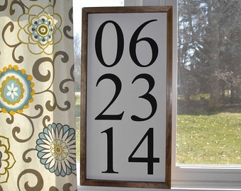 Custom Handmade Date Sign