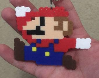Super Mario Bros. Mario Perler Keychain