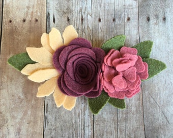 Boho Baby Flower Crown, Boho Flower Crown, Festival Headband, Flower Crown, Spring Flower Crown, Flower Girl Headband, Flower Girl Crown