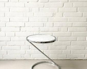 Midcentury Beistelltisch, Vintage Marmortisch, Modernist Tisch, Mid Modern Möbel, Vintage Interior