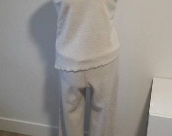 Fleece pyjama/pajama top in organic cotton fleece