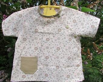 Raglan sleeves in pastel cotton tunic