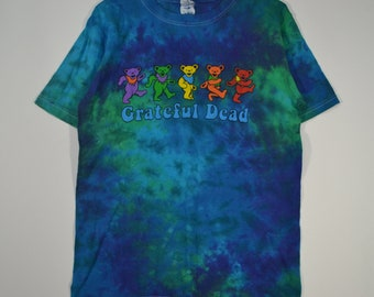 Vintage Grateful Dead Rainbow Teddy Bears tie dye shirt Small