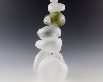 Blown Glass Cairn Sculpture
