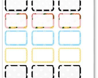 Frida Half Boxes Planner Stickers for Erin Condren Planner, Filofax, Plum Paper