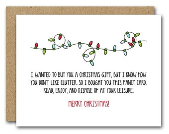 Funny Christmas Card, INSTANT DOWNLOAD, Obligatory Holiday Card, Funny Holiday Card, Christmas Lights, Humorous Christmas, Printable Card