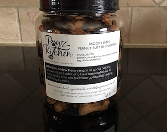 Brooky Bites - Peanut Butter / Pumpkin Biscuits (13 oz)
