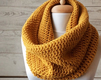 Knit cowl, scarf, knit cowl, infinity scarf, knit scarf, mens scarf / Many Colors / FAST DELIVERY