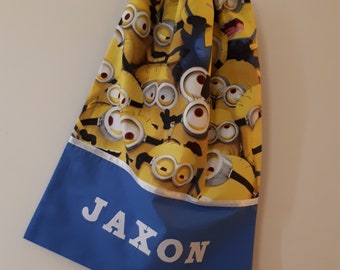 Children's Personalised Library Bag / Book Bags - Minions -
