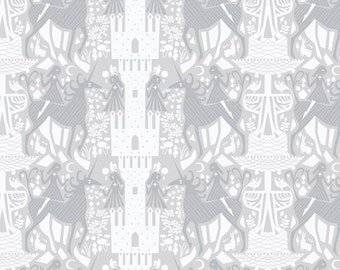 Fabric by the Yard - Whisper by Lizzy House - Unicorn Dream Cloud