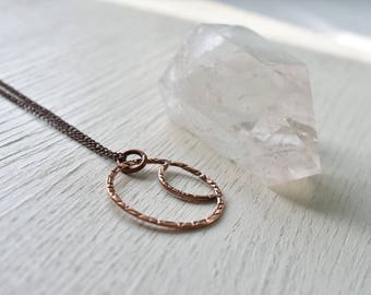Phases- Copper crescent moon necklace