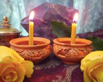 Yellow-the Manipura Chakra Meditation Balancing Candles Set-Antik's aura candles