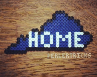 Custom Perler Bead Magnet of your state. Choose any state and colors. Ohio Kentucky home state pride Cincinnati