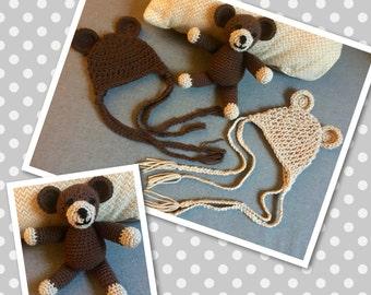 Teddy Bear and Hat Set