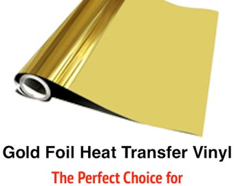 Cricut & Silhouette Gold Foil Heat Transfer Vinyl - 3 Sheets - FREE SHIPPING