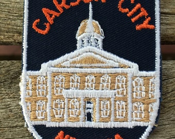 Carson City Nevada Vintage Souvenir Travel Patch from Voyager
