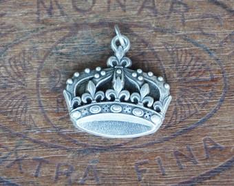 Vintage French Crown Souvenir Pendant
