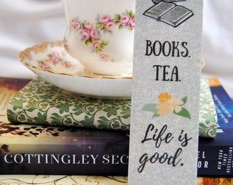 Books & Tea Bookmark