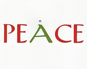 Peace (Red and Green) Card