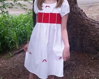 Mary Poppins Dress - Jolly Holiday Dress - Mary Poppins Inspired - Cotton Play Dress - Mary Poppins Disneybound - Girls Mary Poppins Costume