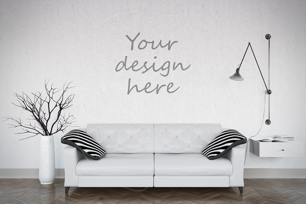 Empty Wall Mockup Styled Stock Mock Ups Photography Stickers
