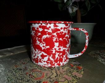Vintage Metal Coffee Cup