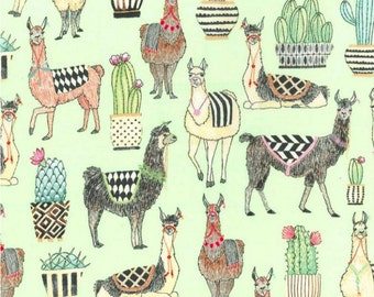 SALE - Michael Miller - Lovely Llamas Collection - Lovely Llamas in Mint