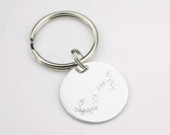 Constellation key chain, Zodiac Jewelry, Astrology Zodiac key charm, libra, virgo, scorpio, sagittarius, Capricorn keychain Mothers day gift