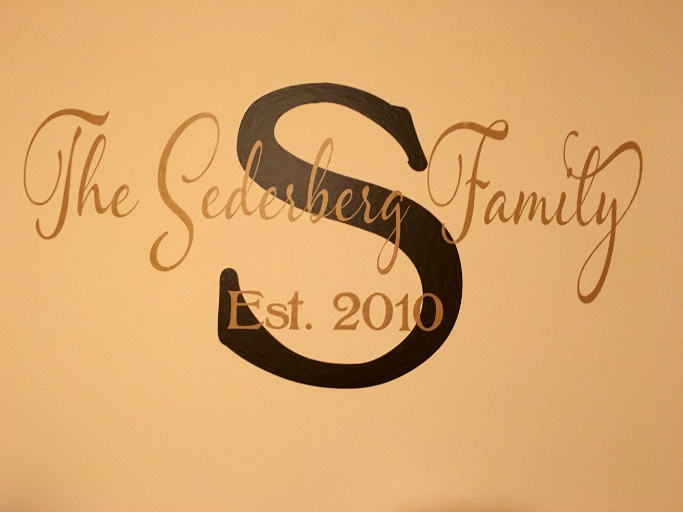 Personalized Wall Decal Last Name