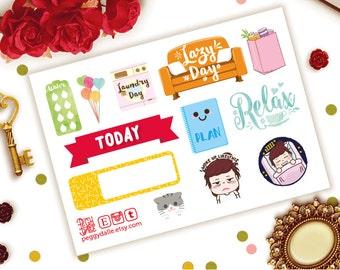 Sampler Mini Sheet Planner Stickers | Sampler Planner Stickers