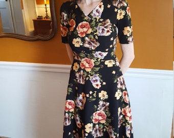 Ladies Floral Knit Dress