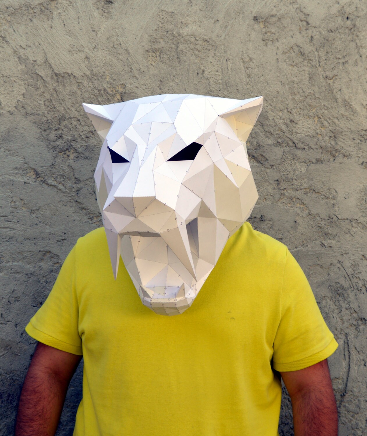 Make your own sabertooth tiger mask papercraft sabertooth this is a digital file jeuxipadfo Gallery